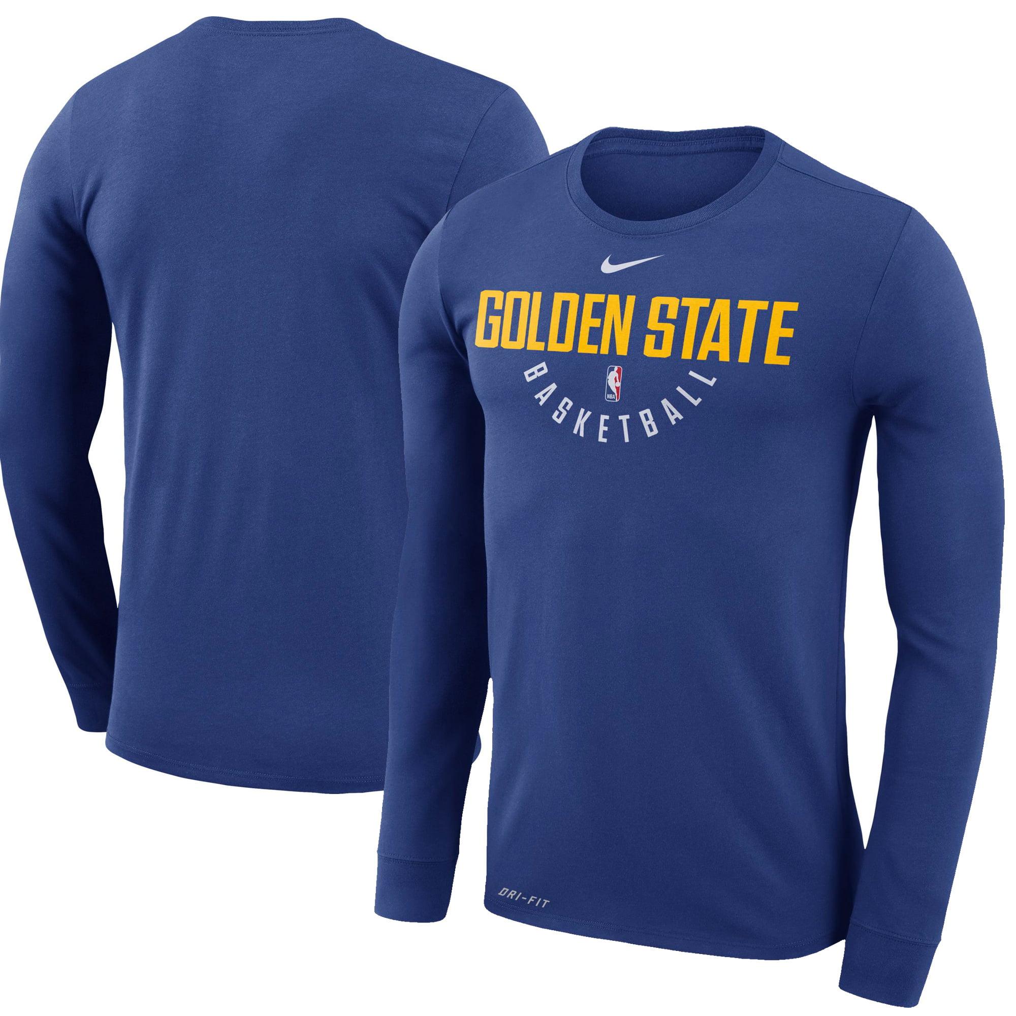 Golden State Warriors Nike Practice Long Sleeve Performance T-Shirt - Royal