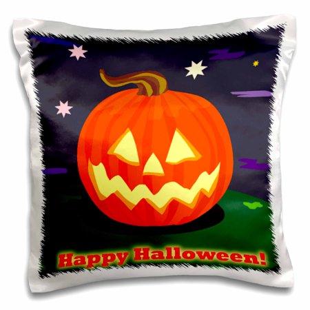 3dRose Happy Halloween Pumkin - Pillow Case, 16 by 16-inch](Halloween Pumkin Carving Ideas)