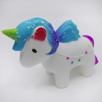 1 New Cute Scented Soft Slow Rising Squishies Rainbow Unicorn Animal Squishy Toy Extra Soft (Color Vary )