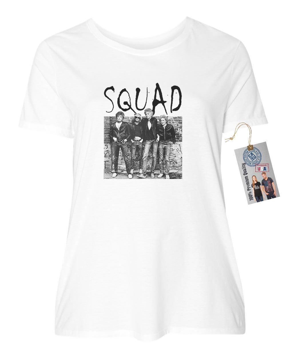 Golden Girls Squad Gang TV Show Plus Size Womens Short Sleeve Shirt