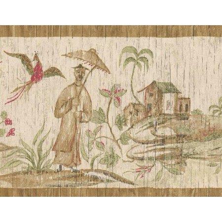 Oriental Wallpaper Designs (879358 Oriental Asian Scenic Wallpaper Border )