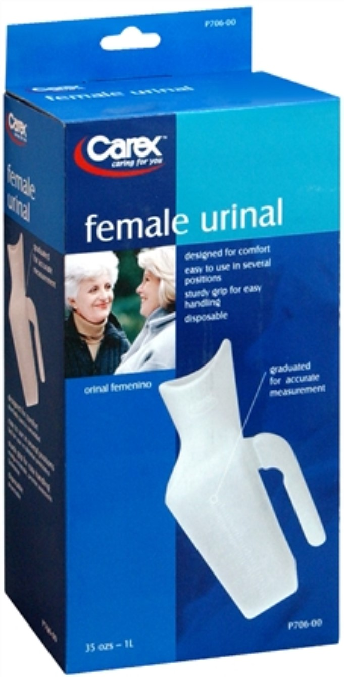 Carex P706 00 Female Urinal 1 Each Pack Of 6