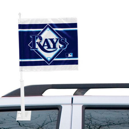 WinCraft Tampa Bay Rays Double-Sided Car Flag - Navy Blue - No Size
