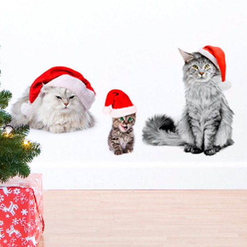 ADZif Christmas Cats Wall Decal