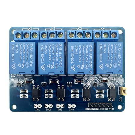 5V 4-Channel Relay Board Module for Arduino for Raspberry Pi ARM AVR DSP PIC - image 2 de 5