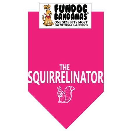 Fun Dog Bandana - THE SQUIRRELINATOR - One Size Fits Most for Med to Lg Dogs, hot pink pet scarf - Halloween Dog Bandanas Wholesale