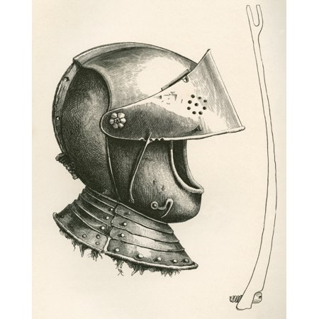 Shark Helmets Visors - Visored Helmet Dating From C1643 The Piece At The Side Is The Visor Prop Full Size Used To Keep Up The Visor At Different Angles According To The Notch Used From The British Army Its Origins Progress