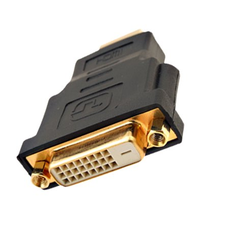 Black HDTV HDMI Male to DVI-D Dual Link Female Connector - Dual Link Connector