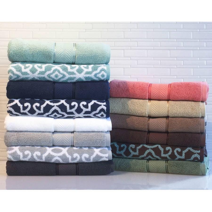 Better Homes And Gardens Jacquard 6 Piece Towel Set Silver Walmart Com