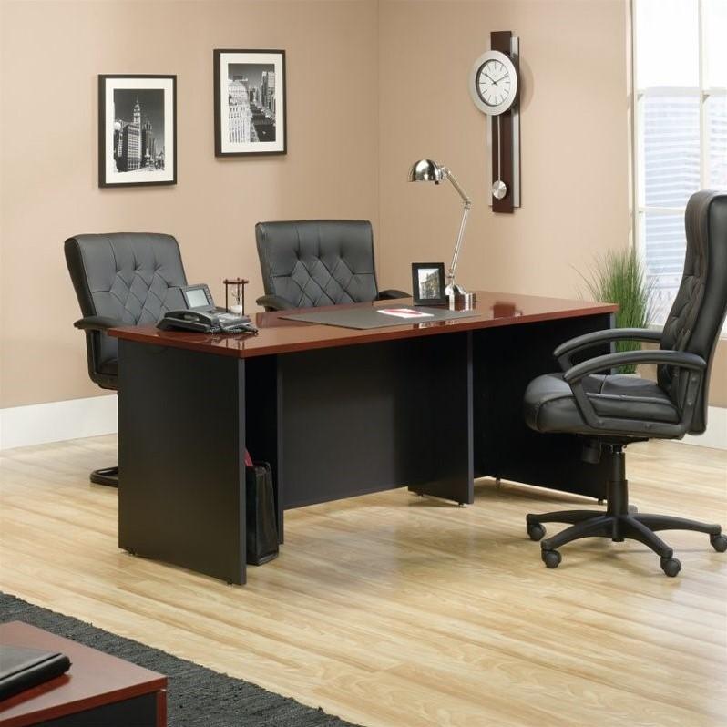 Sauder Via Executive Desk in Classic Cherry - image 8 de 8