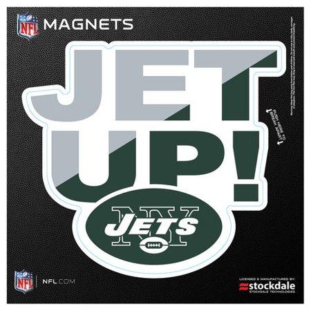"New York Jets 6"" x 6"" Xpression Logo Full Color Car Magnet"