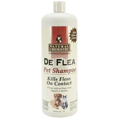 DeFlea Shampooing pour chiens et chats 33.8oz-