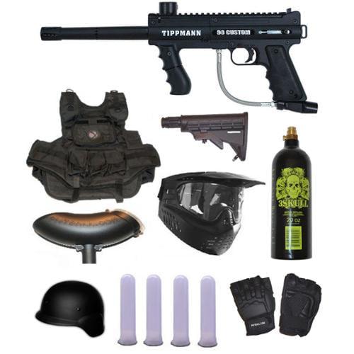 Tippmann 98 Custom PS Ultra Paintball Marker 3Skull SWAT Set by