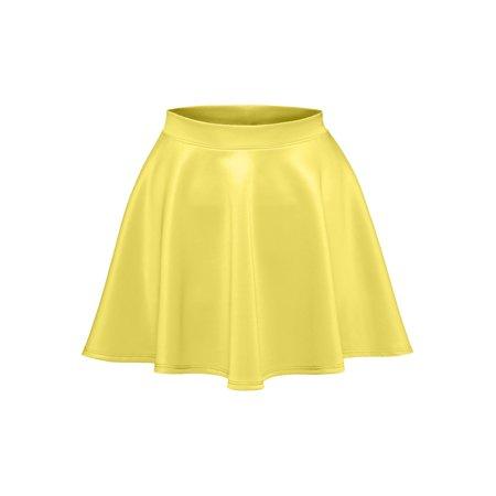 Luna Flower Women's Basic Versatile Stretchy Flared Skater Skirt GREY Medium (LFWSK0009)