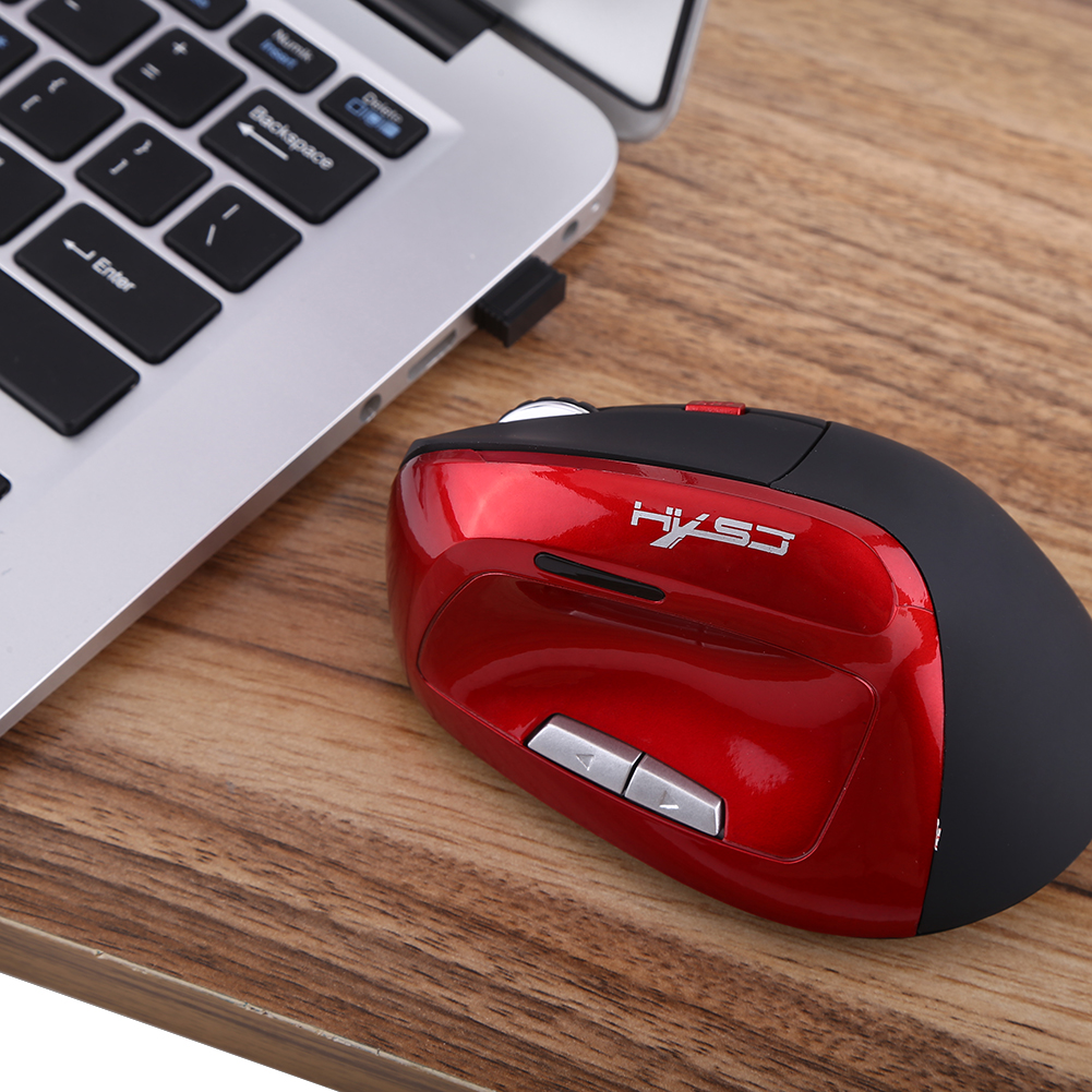 Wireless Optical Vertical 2400DPI Gaming Mouse Rechargeable Game Mice For Pro Player, Wireless Optical Mouse
