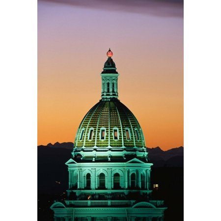 Colorado State Capitol Building Denver Co Canvas Art   Panoramic Images  24 X 18