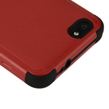 ZTE Blade Force Case, by Insten Tuff Hard Plastic/Soft TPU Rubber Case Cover For ZTE Blade Force, Black - image 3 de 5