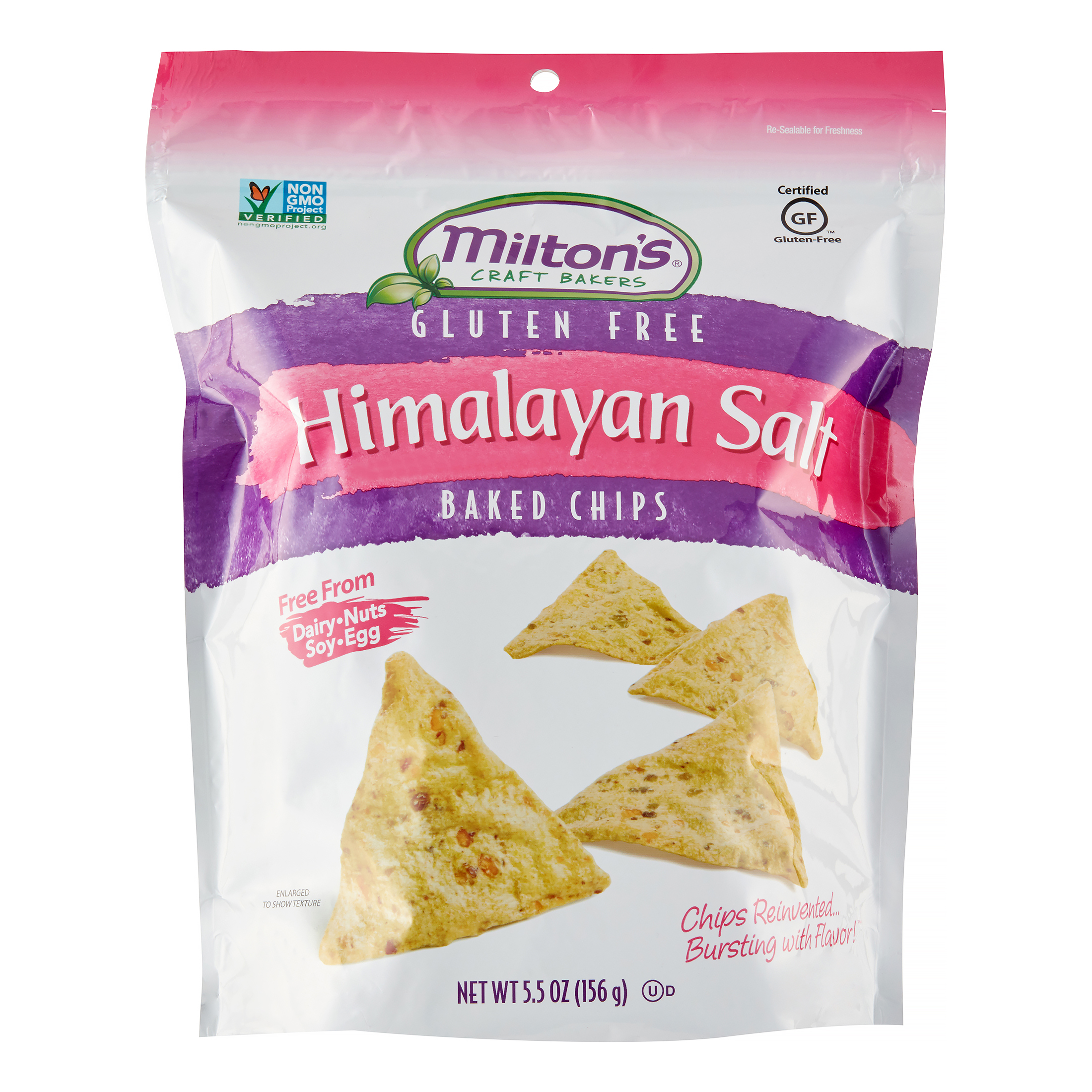 Milton's Gluten Free Himalayan Salt Baked Chips, 5.5 Oz