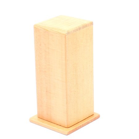 Unique Bargains Household Crafting Square Shape Wooden Toothpick Box Case Holder Wood Color