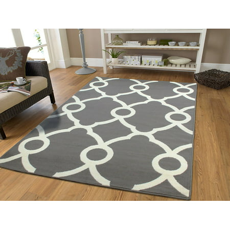 Contemporary Grey Amp White Rug Area Rugs 8x10 Clearance
