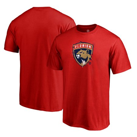 Florida Panthers Fanatics Branded Splatter Logo T-Shirt - Red