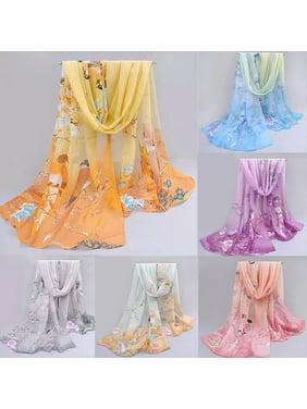 Fashion Chiffon Women Ladies Scarf Neck Shawl Scarf Scarves Wrap Stole Warm Gift