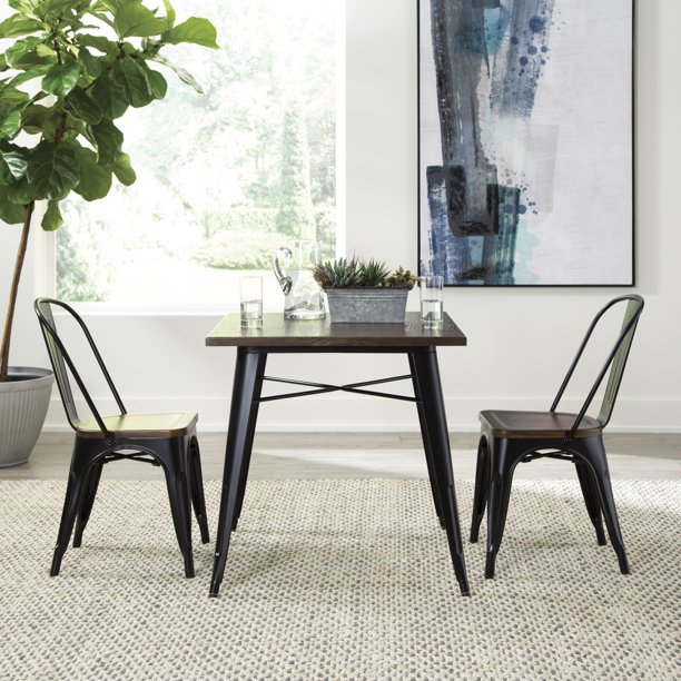 Ofm 161 Collection Industrial Modern 30 Square Dining Table