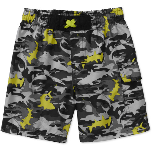 OP Baby Boys' Shark Camo Swim Trunks