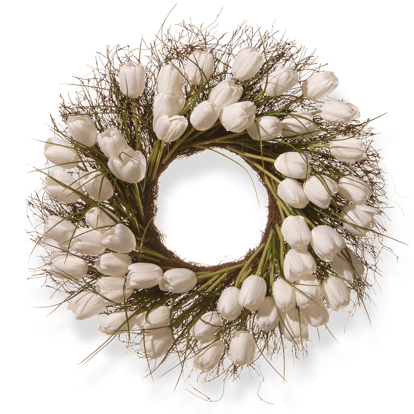 "24"" White Tulip Wreath"