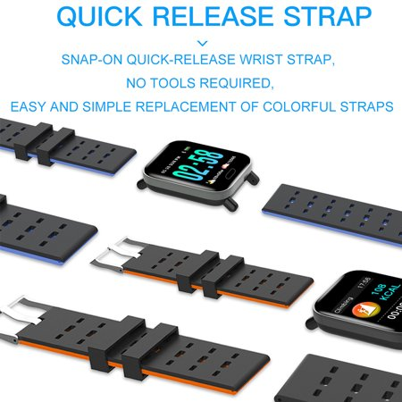 Smart Watch Fitness Tracker Smart Wristband with Heart Rate Monitor Blood Pressure Activity Fitness Watch for Women Men - image 5 of 11