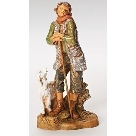 "Peter the Shepherd with Sheep Figurine for Fontanini 7.5"" Nativity Collection #52875"