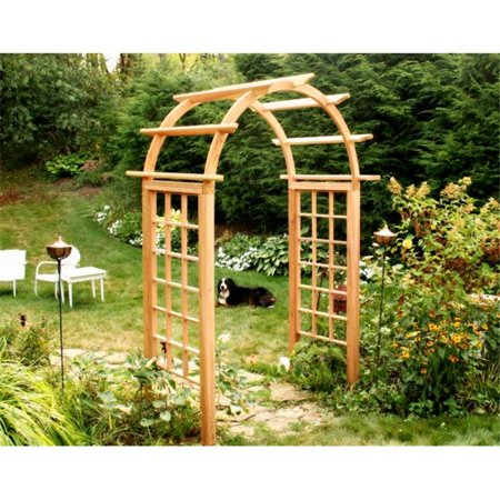 Creek Vine Designs EY48ARCVD Cedar Arched Arbor- 48 in. (Cedar Arched Arbor)