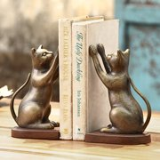 SPI Home Inquisitive Cat Book Ends (Set of 2)