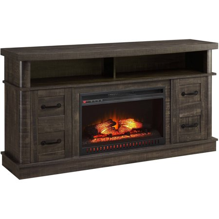 Buy Whalen Weathered Dark Pine Media Fireplace Console for TV