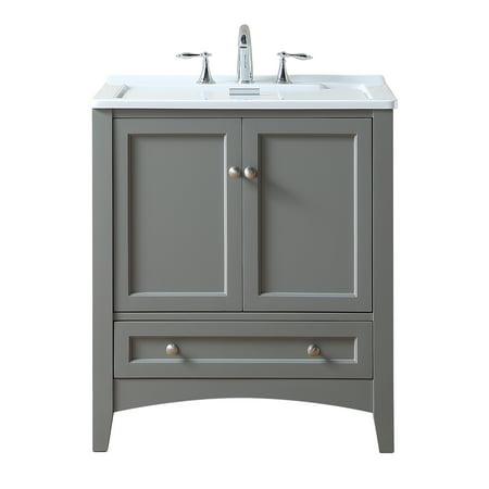 stufurhome 30 inch grey laundry utility sink - Laundry Utility Sink
