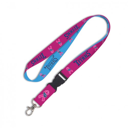 Tennessee Titans Breast Cancer Awareness Pink Ribbon Detachable Lanyard