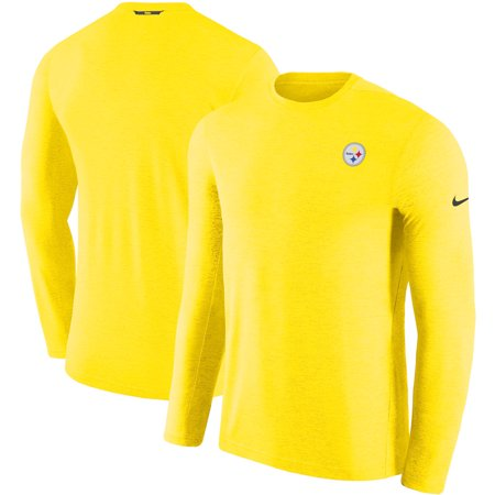 promo code 5db85 26bca Pittsburgh Steelers Nike Sideline Coaches Primary Logo Long Sleeve  Performance T-Shirt - Gold