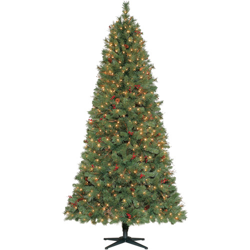 Holiday Time Pre-Lit 7.5' Hammond Artificial Christmas Tree, Clear Lights