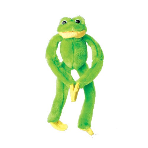 One Large Velcro Palm Hanging Green Plush Stuffed Frog