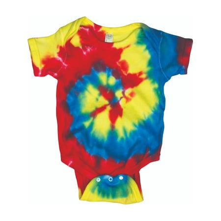 Swirly Girls (Rainbow Swirly Spiral Toddler Little Boys Little Girls Tie Dye Creeper)