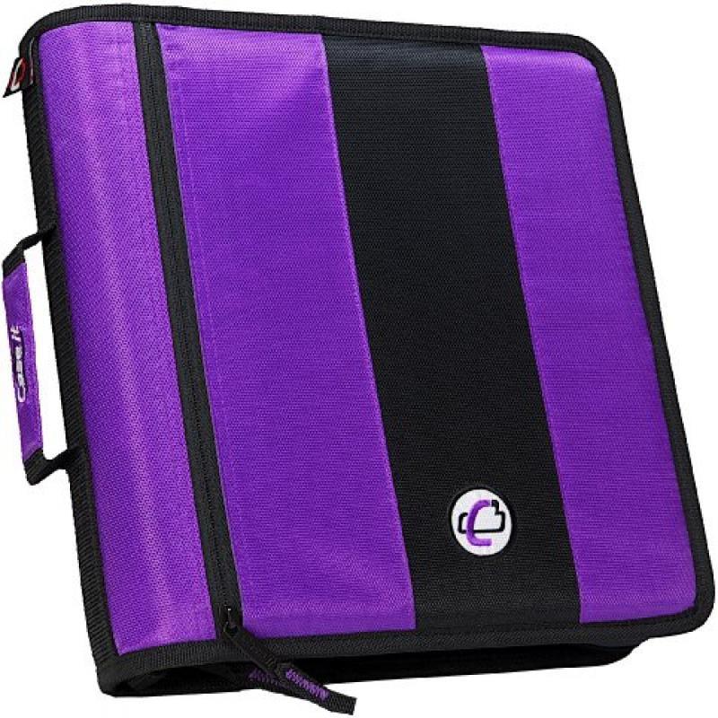 Case It 2-Inch Ring Zipper Binder, Purple, D-251-PUR