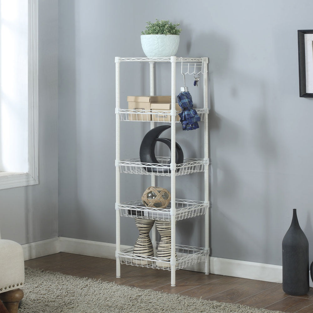 Ktaxon 5 Tier Wire Shelving Rack Shelf Adjustable Unit ...