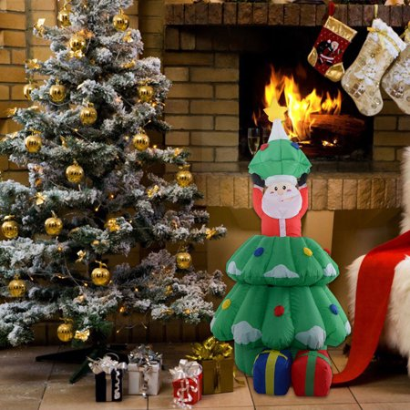 costway 5 ft airblown inflatable santa claus in christmas walmart outdoor christmas decorations 2017 best template walmart