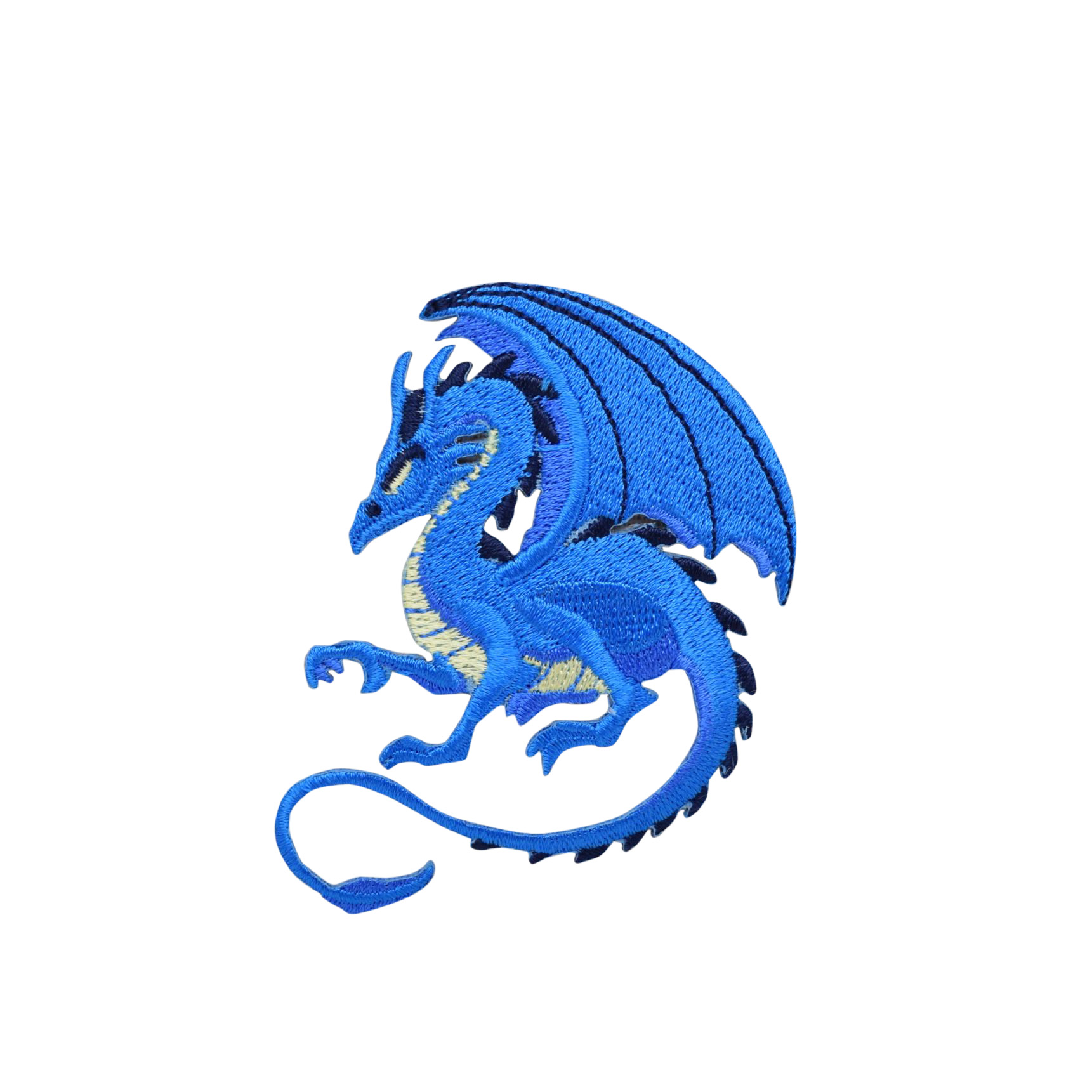 Blue Dragon - Facing Left - Legendary/Mythical/Fantasy - Iron on Applique/Embroidered Patch