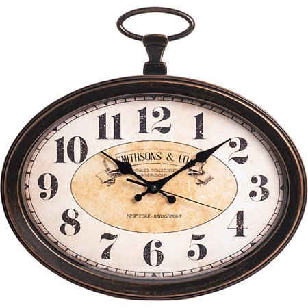 Better Homes Gardens 15 Vintage Oval Pocket Watch Wall Clock