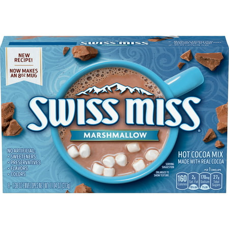 (6 Pack) Swiss Miss Marshmallow Hot Cocoa Mix, (8) 1.38 Ounce Envelopes](Hot Cocoa Mix Ornaments)