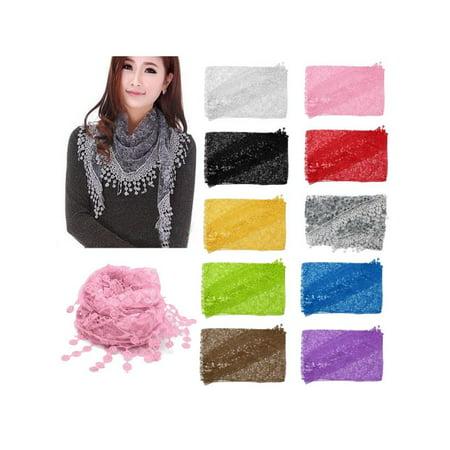 Lace Chiffon shawl Neck Scarf 55