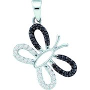 Gold and Diamonds PWZA1022-W 0.27CT-DIA BUTTERFLY PENDANT- Size 7