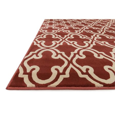 """Loloi Goodwin 2'3"""" x 3'9"""" Power Loomed Rug in Rust - image 1 of 2"""