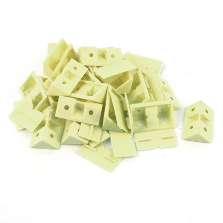 Plateau plast cabinet ren coin jaune support 42mmx29mmx15mm 20pcs - image 3 de 3